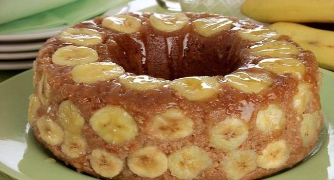 Receita de Bolo de banana sem farinha de trigo