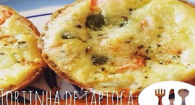 Tortinha de tapioca com legumes